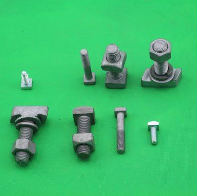 T頭螺栓,帶六角螺母平墊圈和彈簧墊圈