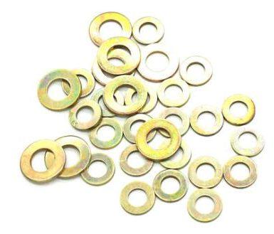 黃色鍍鋅平墊圈DIN,SAE,美國標準