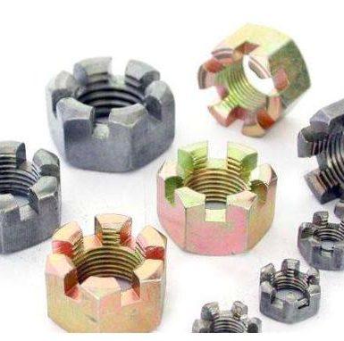 碳鋼開槽防鬆螺母鍍鋅
