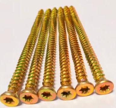 混凝土螺釘Torx Pozi 6筆尖黃色鋅高螺紋